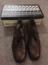 New Mens Vintage Roblee Dunmore Brown Shoes Size 8 1/2 C Original Box USA