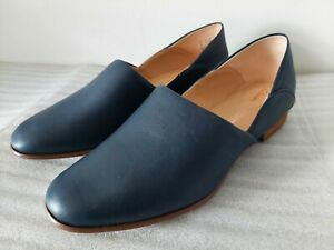 CLARKS PURE TONE WOMENS NAVY GENUINE LEATHER CASUAL SHOES UK SIZE 5