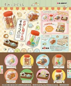 Re-Ment Miniature Sumikko Gurashi Cheap Sweets Snacks Full Set 8 pieces Rement