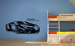 Lamborghini Aventador Vinyl Wall Stickers, Sports Car, Wall Decals Murals