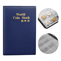 120 Coin Holder Collection Storage Collecting Penny Pockets Album Book Blue PK