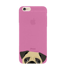 Cute Apple iPhone PUG Silicone Case Cover for 6, 6Plus, 7, 7 Plus *FREE POSTAGE*