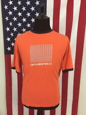 vtg 90s DKNY Jeans Ringer T-Shirt mens XL orange logo donna karan normcore 16244