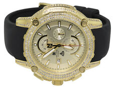 Aqua Master Yellow Gold Plated Limited Edition Nicky Jam Diamond Watch NJ5 5.0Ct