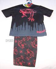 Marvel Spiderman Boys Black Red Printed 2 Piece Pyjama Set Size 3 New