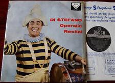 DECCA SXL 2111 ED 1a BLUE BORDER DI STEFANO OPERATIC RECITAL LP NM- 1959 ENGLAND