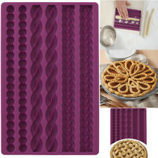 3D Knit Rope Pearl Silicone Fondant Mould Cake Border Decor Sugar Icing Gumpaste