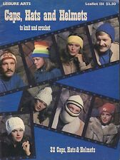 Leisure Arts Caps Hats And Helmets To Knit Crochet 1978 083017nonjhe