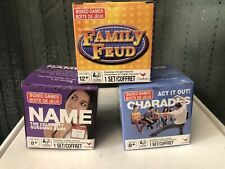 Lot of 3 Mini Games, Box Games, Family Feud, Whats In A Name and Charades, New