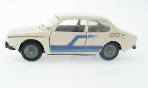 Tekno 837 - Saab 99 2.0 L - white/black, weiß /schwarz 1:43 Modellauto Model Car