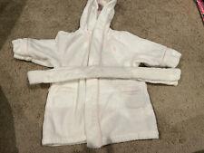 🎀Ralph Lauren~Hooded White W/Pink Robe W/Tie Belt~3M🎀