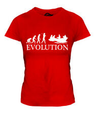 ROWING BOAT EVOLUTION LADIES T-SHIRT TEE TOP GIFT ROWER GIFT S
