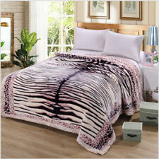 Luxury Blanket Throw Cozy Super Soft Plush Chic Blanket Warm Bed Double King