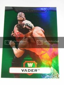 VADER - 2010 Topps WWE Platinum Green Refractor #89 - #385 of 499 made