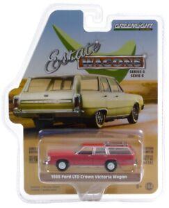 1:64 GreenLight *ESTATE WAGONS 6* Currant Red 1989 Ford LTD Crown Victoria NIP