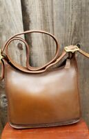 Coach Brown Leather Janice Legacy Zip Shoulder Bag 9966, Vintage, USA
