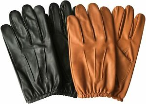 Mens Police Tactical Slim Fit Dress Chauffer Classic Driving Gloves Cow Nappa