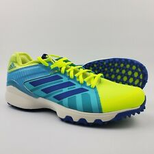 Adidas LUX Field Hockey Shoes Cleats Men's Size 9 US Neon Green Blue