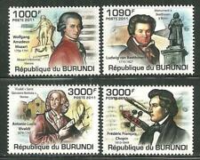 BURUNDI 971-74 MNH COMPOSERS SCV 12.50