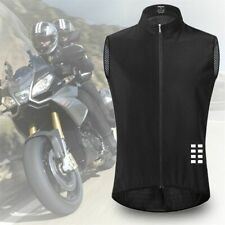 Men Cycling Wind Vest Sleeveless Reflective Bicycle Jersey Night Riding Camping