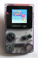 Game Boy Colour LCD Backlight Console - Adjustable Brightness -  Purple & Black