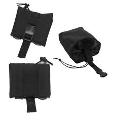 Tactical Folding Magazine Utility Magazine Drop Dump Pouch MOLLE PALS Black