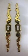 Magnifique paire de garniture de porte Plaque de pote en Laiton massif neuve