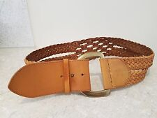 Linea Pelle Collection tan leather plaited belt - M Medium - New without tags