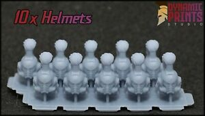 10x White Scars Helmets - Compatible with Warhammer 40k bits space marine WH40k