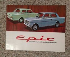 Vintage Car Brochure EPIC by GENERAL MOTORS in French Canada 1965