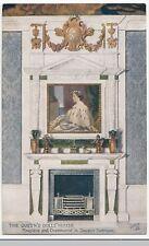 The Queens Dolls House; Fireplace & Overmantel In Quuens Bedroom PPC, Unused