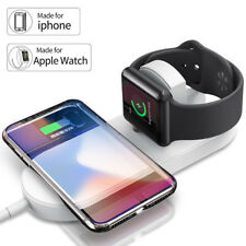 Qi Wireless Fast Charger Stand Holder for Apple Watch 4 for iPhone XS XS MAX XR
