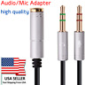 3.5mm Stereo Audio2 Male to 1 Female Headset Mic Y Splitter Cable Adapter.