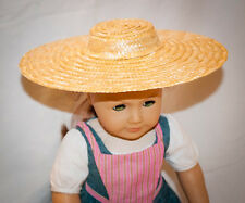 "American Girl Felicity sized DIY Colonial Low Crowned Straw Hat for 18"" Doll"