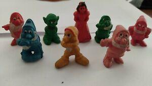 BIANCANEVE E I SETTE NANI Disney 1970 in gomma miniatura mini rubber doll Raro!