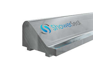 SHOWER DOOR THRESHOLD STRIP CHROME STICK TO SHOWER TRAY OR TILED FLOOR