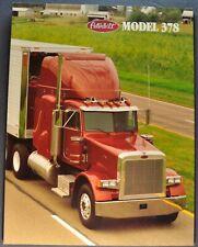 1994-1995 Peterbilt Truck Model 378 Sales Brochure Folder Excellent Original