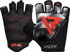 RDX Gym Weight Lifting Gloves Exercise Training Workout Fitness Large Gray