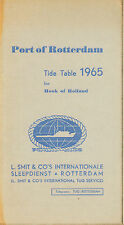 PORT OF ROTTERDAM TIDE TABLE 1965 FOR HOOK OF HOLLAND
