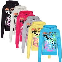 Ladies Women Cute Is What I Am Text Brush Print Hooded Top New Elastic Hoodie