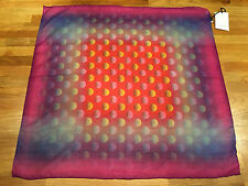 Paul Smith MULTICOLOUR SPOT Cotton & Silk Scarf Made in Italy 65cm x 66cm
