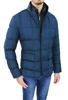 Giubbotto Piumino uomo sartoriale blu casual invernale giacca bomber da M a 3XL