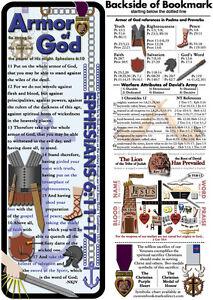 Bible Bookmark - Armor of God (Masculine)