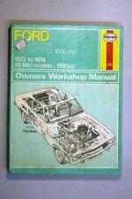 FORD CAPRI 1600 OHC (1972 - 74)   HAYNES WORKSHOP MANUAL WM26