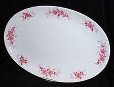 Seltmann Weiden ANNABELL rosa Blume Rose ~ Platte oval 31x21 cm (Fleischplatte)