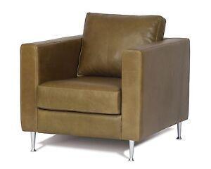 Modern - Contemporary Genuine Full Grain Leather Chair.