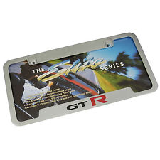 Nissan GT-R Chrome Brass Notched License Plate Frame
