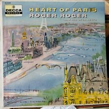 HEART OF PARIS Textured Cover Roger Roger Orchestra 1958 Black Decca jazz lp Org