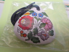 """Kalocsa Necklace/Pendant Handmade Hand Painted """"New In Wrapper"""""""