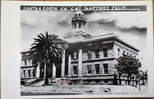 Martinez, CA 1940s Realphoto Postcard: Contra Costa County Court House